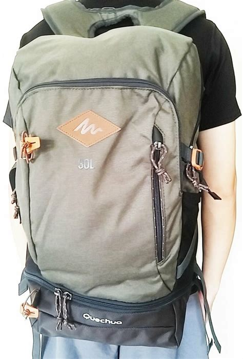 quechua escape 30l hiking cing water repellent backpack with cover 3608439510755 ebay