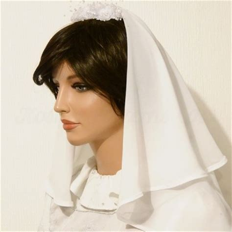 Inez Blusher 05 Modest modest tznius wedding bridal cap snood