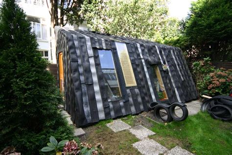Building A Shed From Recycled Materials by Maisongomme A Funky Garden Office And Shed Made From