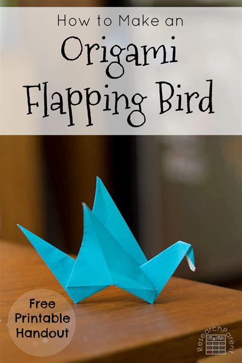 How To Make A Origami Bird That Flaps Its Wings - origami flapping bird researchparent