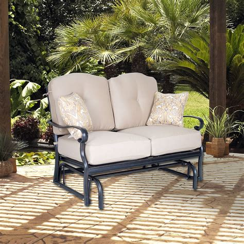 foremost casual harmony loveseat glider the home depot