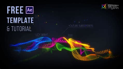 Particle Waves Intro Free After Effects Template Tutorial Youtube Live Reactions After Effects Template