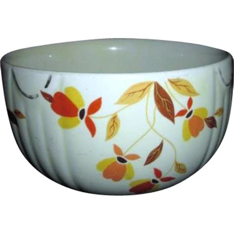 autumn leaf pattern jewel tea jewel tea 6 quot mixing bowl with autumn leaf pattern from