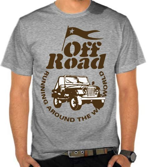 Jeep Logo Signature 4 Cr Baju Kaos Distro Pria Wanita Anak Sev jual kaos road mobil road satubaju