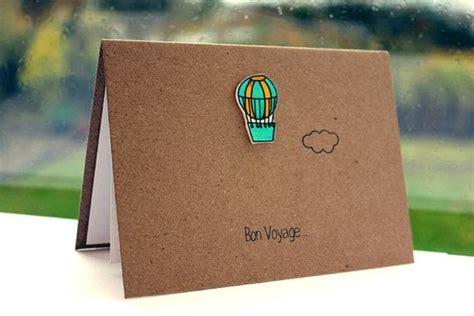 handmade bon voyage card goodbye card leaving card
