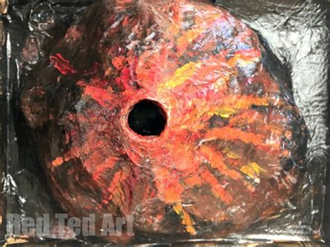 how to make a papier mache erupting volcano for the