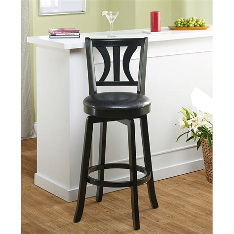 29 Inch Bar Stools Walmart by Mainstays 29 Quot Ladder Back Black Barstool Colors
