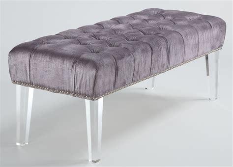 acrylic benches stella gray velvet acrylic bench o19 tov