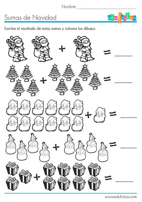 imagenes de matematicas sumas y restas fichas de navidad fichas de actividades para ni 241 os