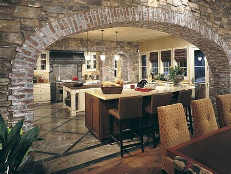 Tuscan Kitchen Island by Create A Rustic Kitchen Design With The Help Of Stone Veneers