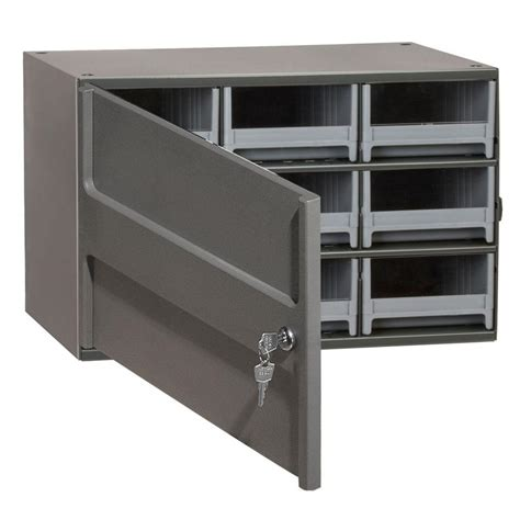 small wall mount storage cabinet akro mils 9 drawer small parts steel cabinet with locking