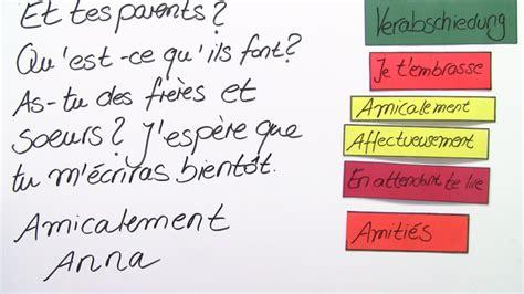 Brief Französisch Musterbrief Wie Schreibe Ich Einen Brief An Meinen Austauschpartner Franz 246 Sisch Lernen