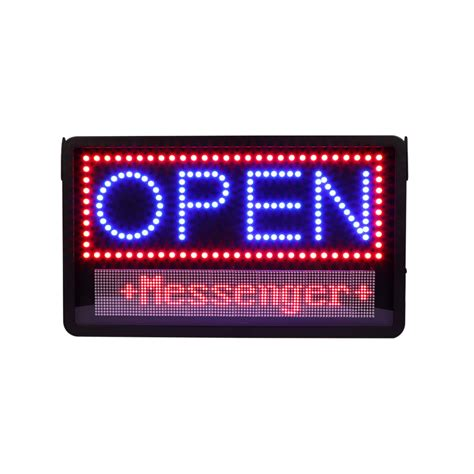 Led Sign Open led open sign with message board specialty store services