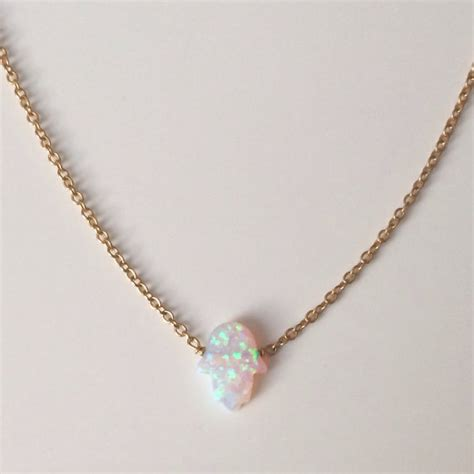 white opal necklace opal white hamsa necklace kula jewelry