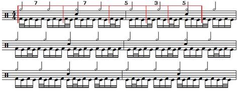 herta tutorial drum playing the herta pattern in groupings of 3 s 5 s and 7