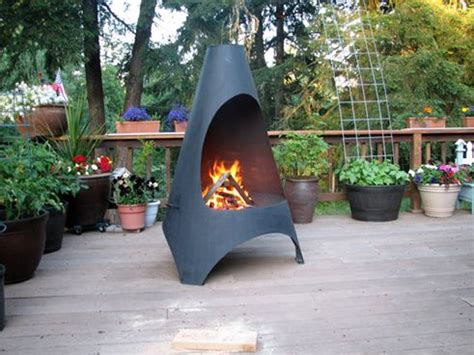 Can You Put A Chiminea On A Wooden Deck Pits Stove And On