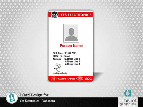 graphics design job in vadodara i card design for yes electronics creative graphic