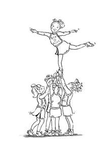cheerleading coloring pages free printable cheerleading coloring pages for