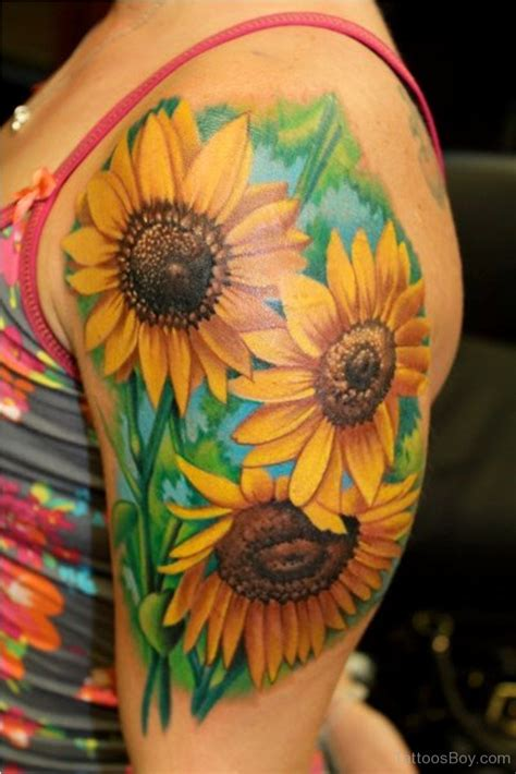 sun flower tattoos sunflower tattoos designs pictures