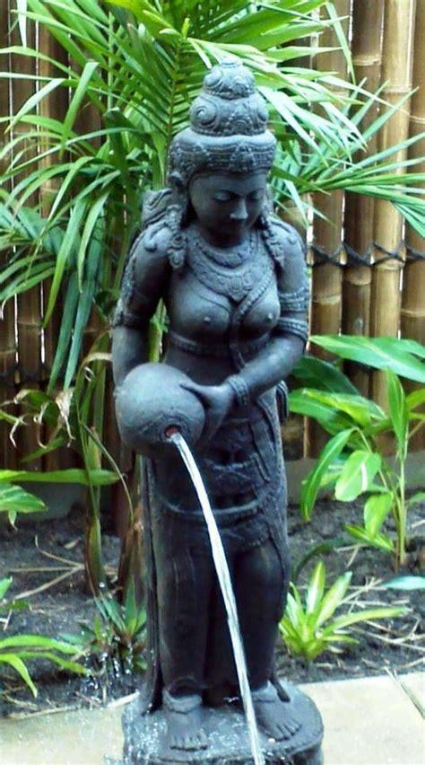 balinese cast concrete dewi sri rice goddess water feature