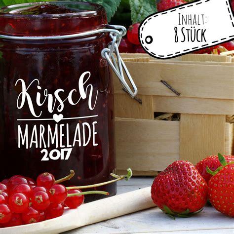 Etiketten Kirsch Marmelade by Aufkleber F 252 R Marmelade Etikett Marmeladenglas Kirsch