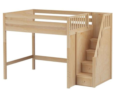 stair loft bed with desk size high loft bed with stairs by