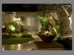 outdoor lighting for shiny wall l tree front fresh grass right