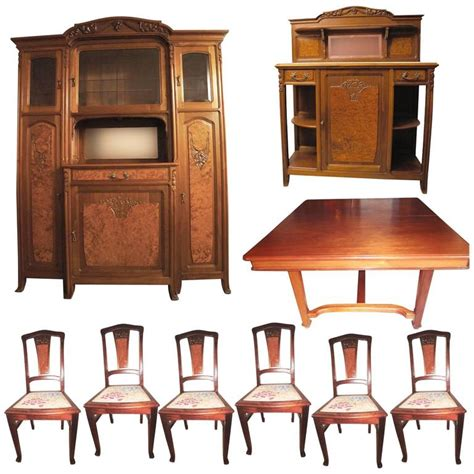 Complete Dining Room Sets Nouveau Complete Dining Room Set 1900s For Sale At 1stdibs