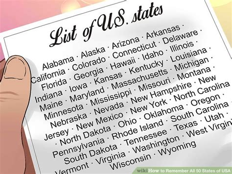 remember all 50 states map how to remember all 50 states of usa 11 steps with pictures