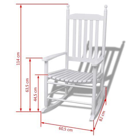 sedia a dondolo legno sedia a dondolo in legno bianco linee curve vidaxl it