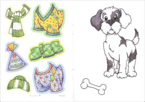 up dolls for dogs cat dress up sticker paper dolls 044486 details rainbow resource center inc