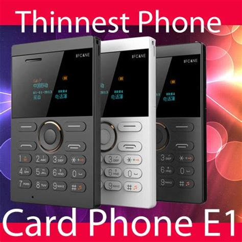 Ifcane E1 Card Phone Ultra Thin best 2015 new style small size ifcane e1 card phone mini