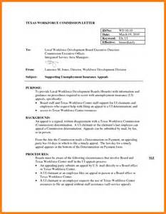 How To Write A Appeal Letter For Unemployment by Appeal Letter Exle