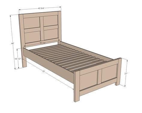 Plans For Bed Frames White Build A Emme Bed Free And Easy Diy Project And Furniture Plans Furniture