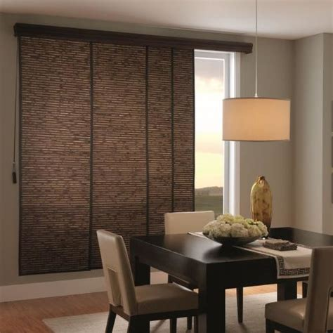 Sliding Panel Track Blinds Patio Doors Bali Woven Wood Sliding Panels Contemporary Vertical