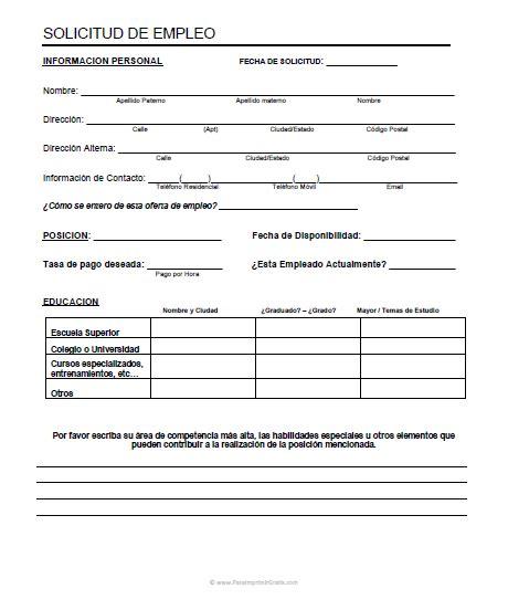 Modelo De Curriculum Vitae Para Trabajo Para Imprimir Formato De Curriculum Vitae Para Llenar E Imprimir Newhairstylesformen2014