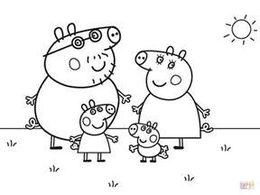 peppa pig drawing templates peppa pig s family coloring page free printable coloring