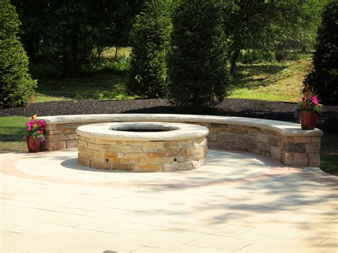 backyard stone fire pit fire pit design and construction cleveland exscape designs