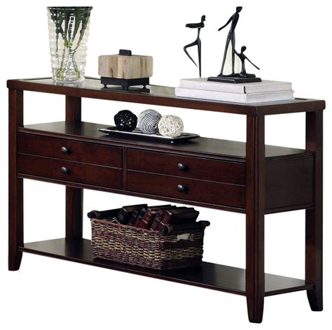 cherry wood sofa tables sofa table cherry cherry shaker sofa console table accents