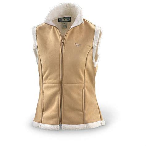 light brown vest womens s fleece lined sueded vest 160557 vests at