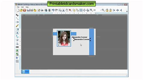 players id card template free id cards maker software card generator tool freeware