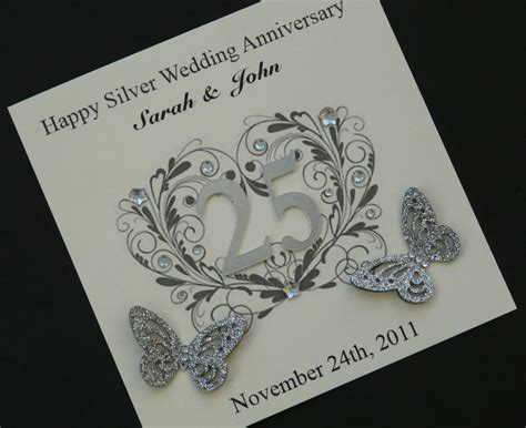 25th wedding anniversary invitation card ideas anniversary invitations 25th silver wedding anniversary