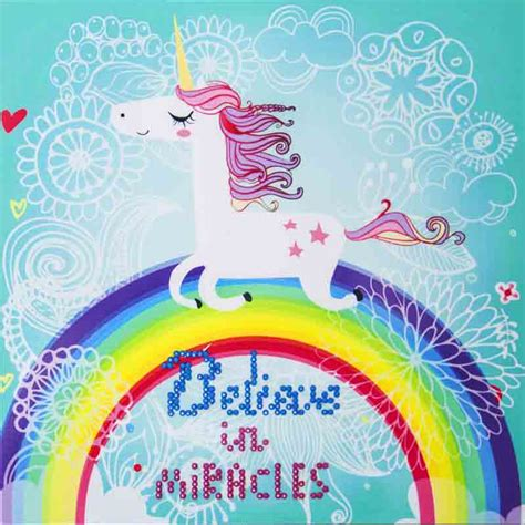believe in miracles a unicorn coloring book unicorn coloring books volume 1 books believe in miracles unicorn rainbow design needleart