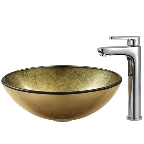 Handmade Vessel Sink - vigo vgt105 bronze and cooper handmade glass vessel sink