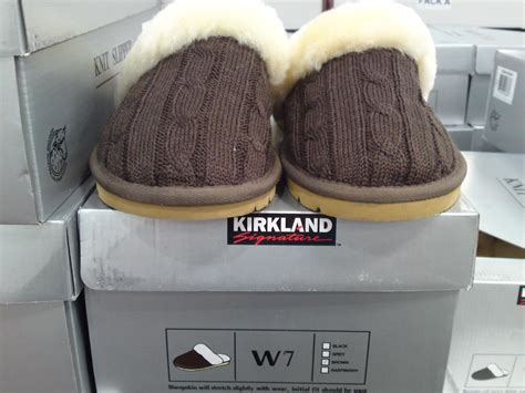 costco slippers costco clearance kirkland signature shearling knit
