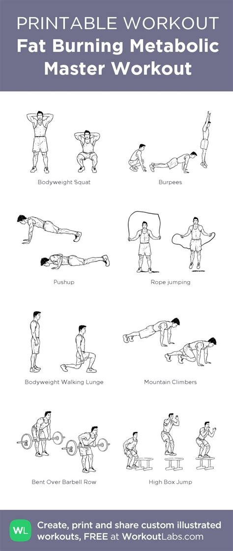 fat burning quot metabolic master quot printable exercise plan for 1000 images about body fitness on pinterest tone up