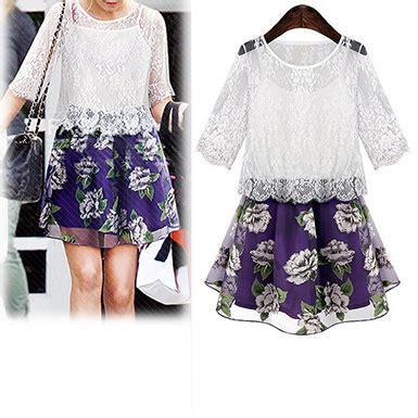 Black White Green White White Black Lace S M L Xl Blouse s 2 set white lace top purple skirt
