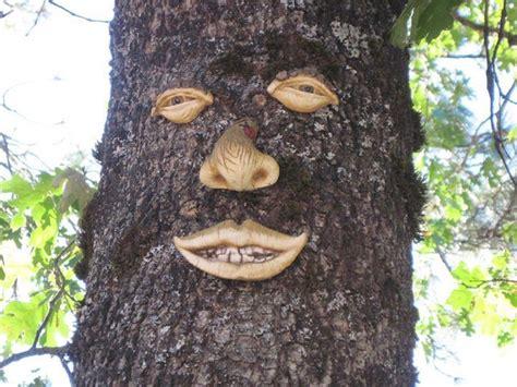 garden faces mysterious  intriguing faces add  human