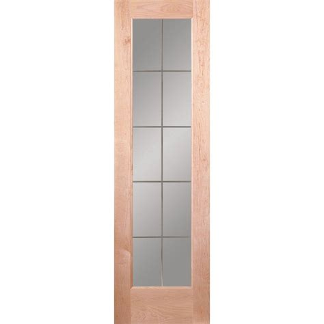 krosswood doors 24 in x 80 in 10 lite solid mdf