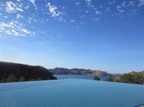 this amazing infinity pool is at lake argyle resort in the
